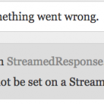 The content cannot be set on a StreamedResponse instance.